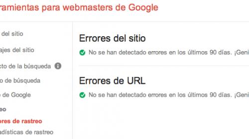 Solucionar Errores de rastreo de Webmaster Tools
