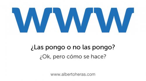 Dirección web con o sin www para SEO